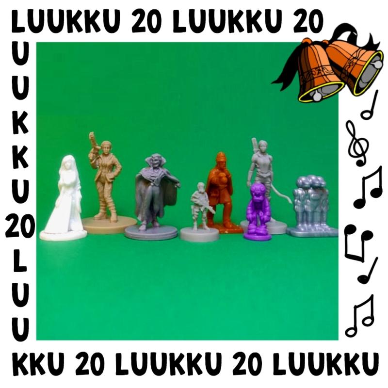 Luukussa 20 löytyy 8 figuuria vihreältä pohjalta.