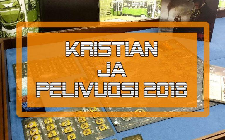 Lautapelivuosi 2018 Kristianin näkövinkkelistä