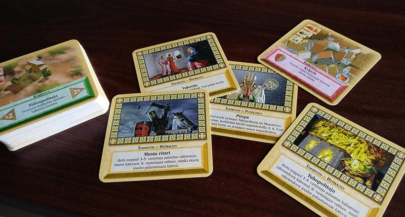 Catanin uudisasukkaat - korttipeli - tapahtumakortit