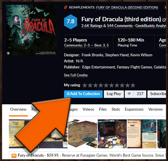 Fury of Draculan lisäys kokoelmaan