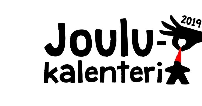 Pöydällä lautapeli joulukalenteri 2019 logo