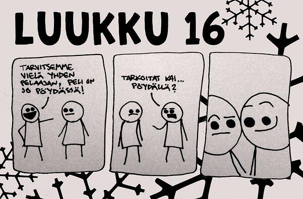 Luukku 16 – Joulukalenteri 2018