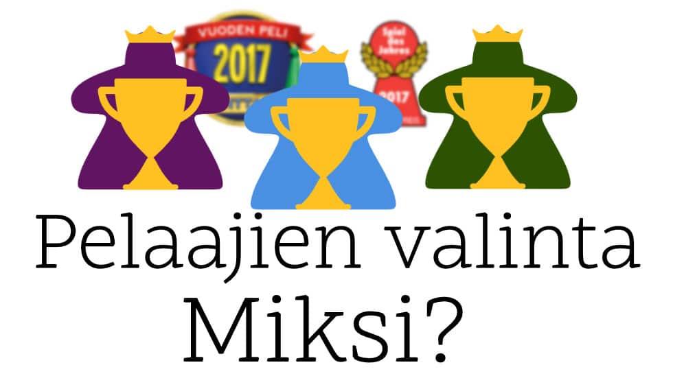 Pelaajien valinta: Miksi uusi pelipalkinto? Eikö Vuoden Peli riitä? 1