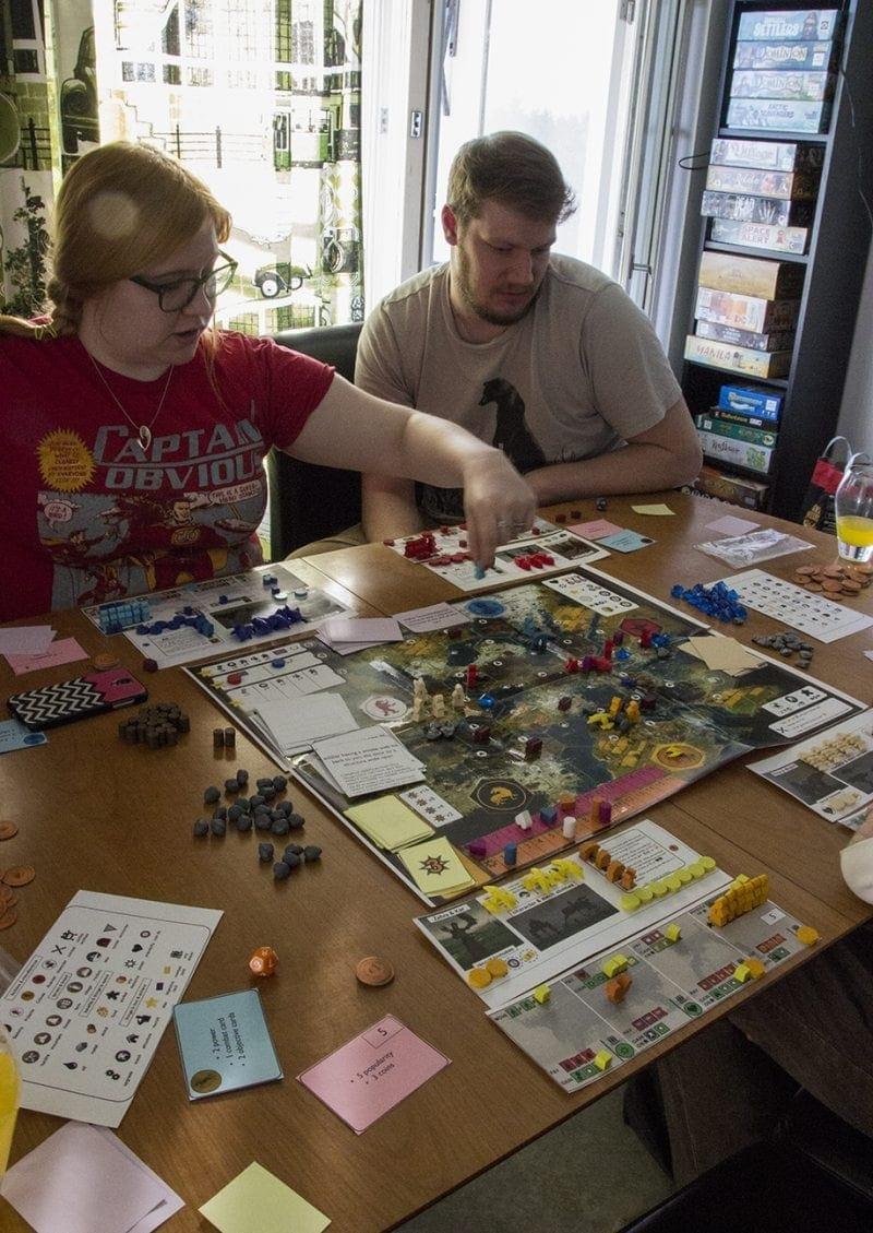 Scythe boardgame prototype