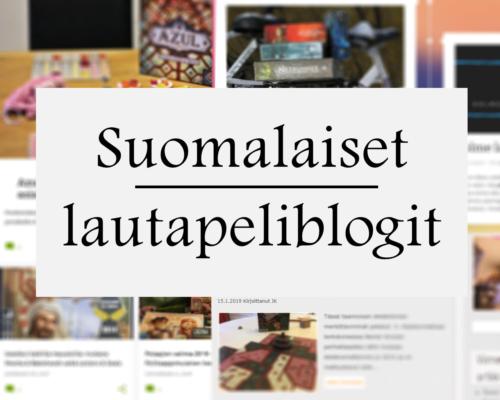 Suomalaiset lautapeliblogit - kuka kukin on? 1