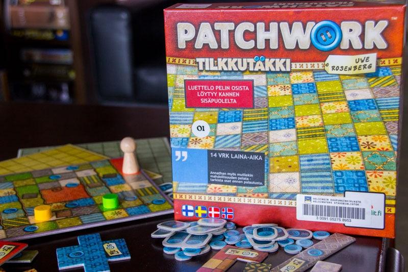 Tilkkutäkki / Patchwork lautapeli laatikko