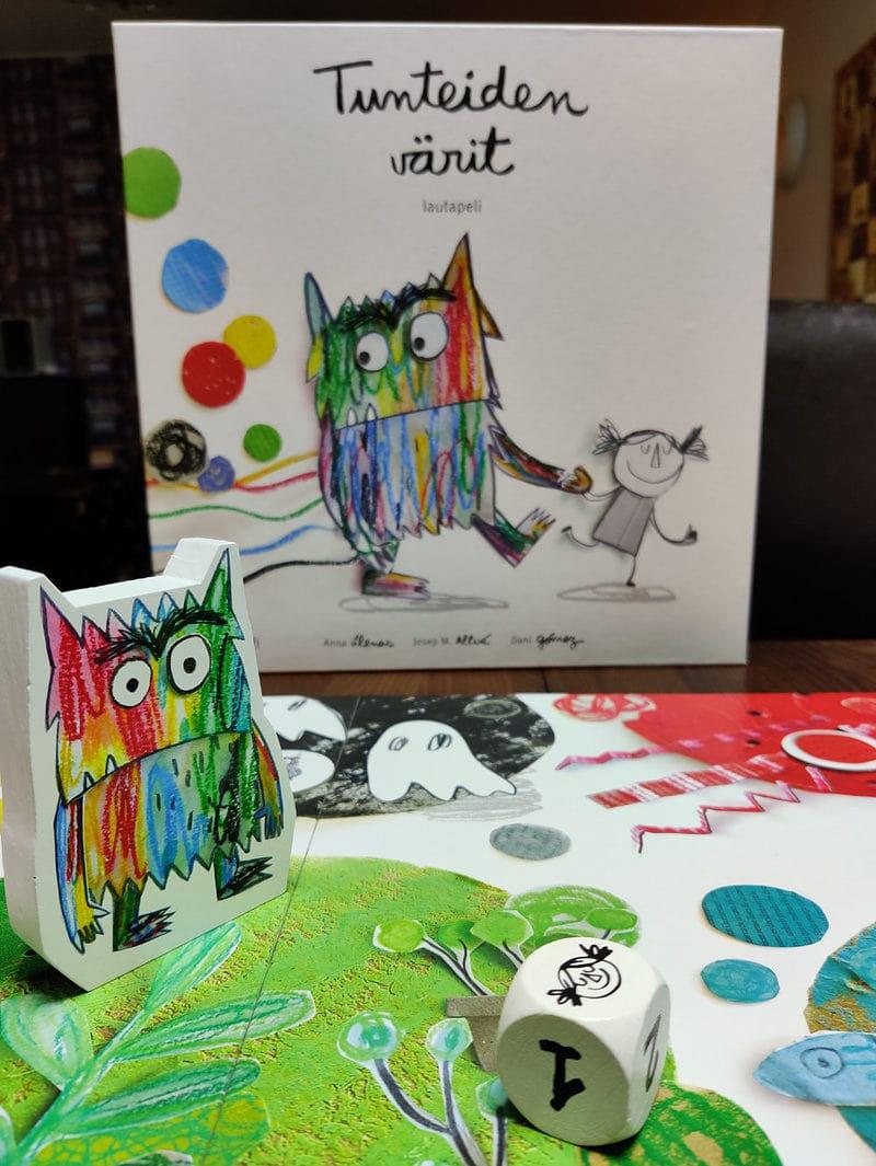 Lasten Pöydällä: Tunteiden värit on tärkeä lautapeli tunteista 1