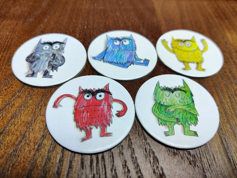Lasten Pöydällä: Tunteiden värit on tärkeä lautapeli tunteista 2
