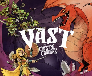 Ensipuraisu – Vast: The Crystal Caverns lautapeli